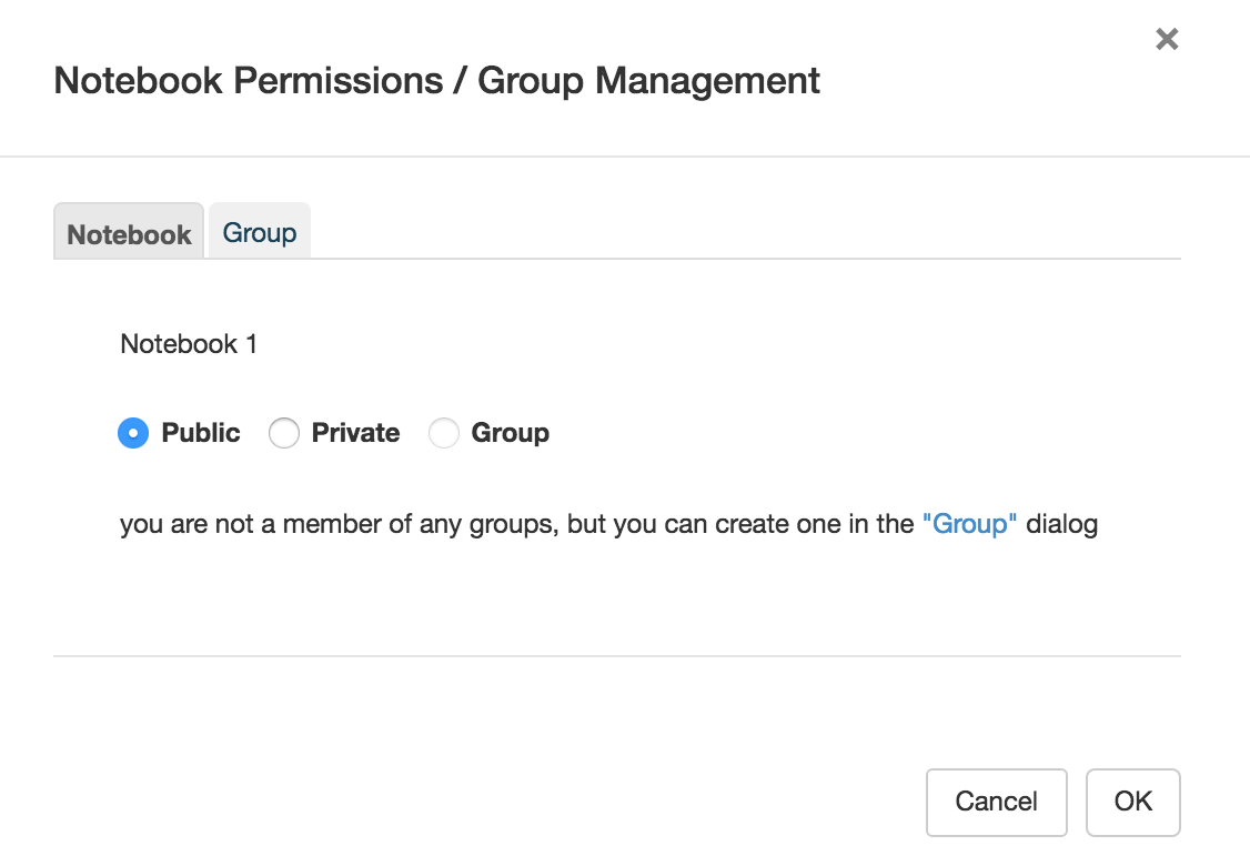 RCloud Manage Groups