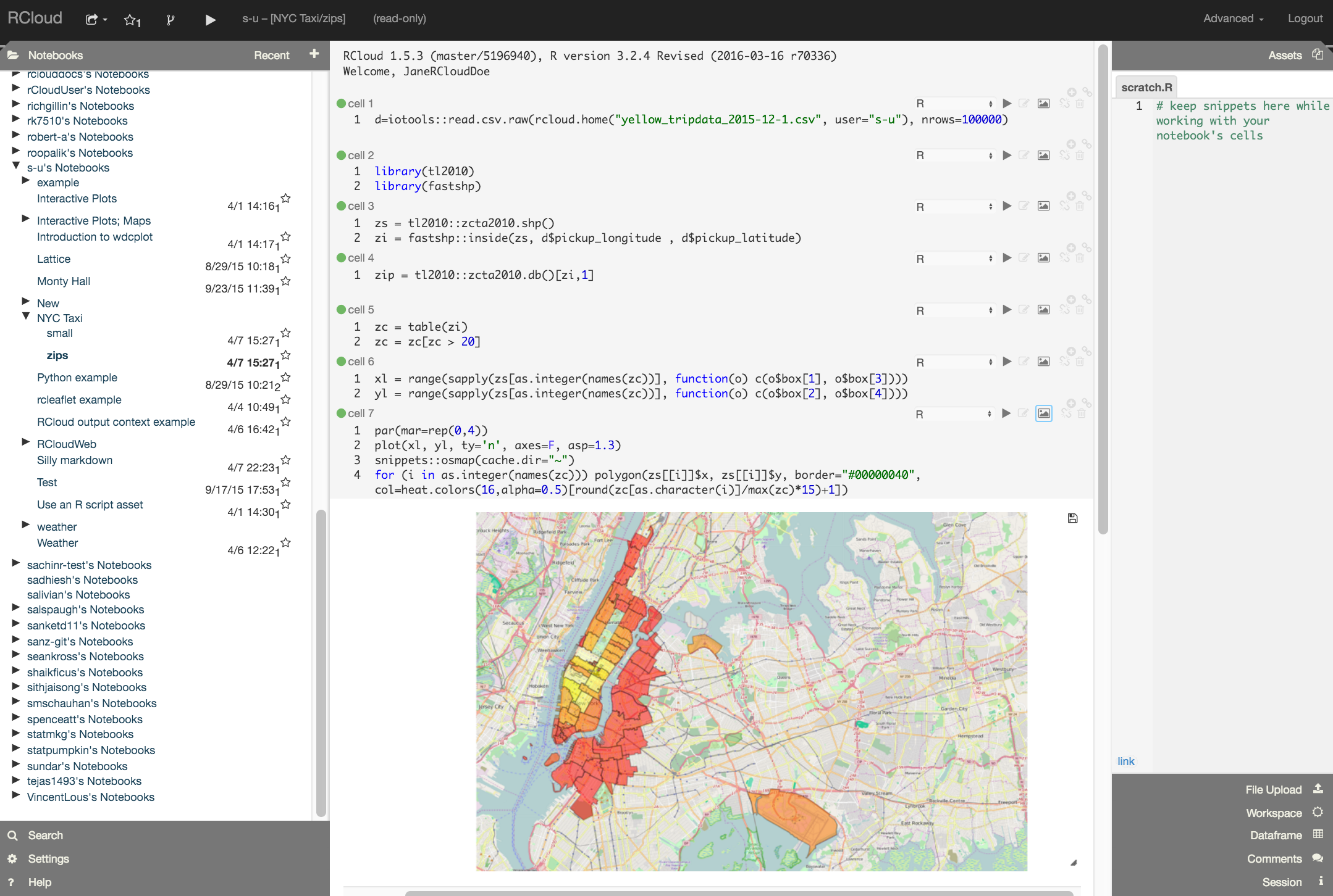 RCloud The Social Coding Environment For Big Data Analytics - Asp map nyc
